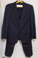 Твидовый шерстяной синий костюм MAGEE 1866 52-54р