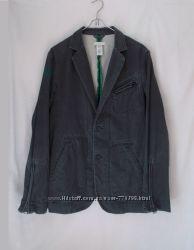 Куртка пиджачного типа серая джинсовая мытая Diesel 52-54р