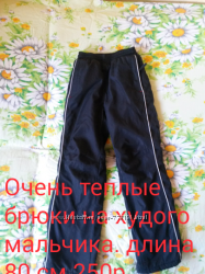 Теплые брюки для мальчика