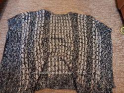 Шикарное вязанное пончо накидка для беременной
