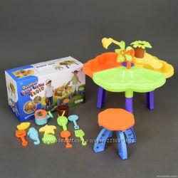 Детский столик игровой для песка и воды  стульчик 9808-1