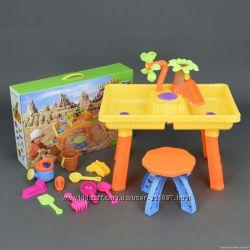 Столик игровой для песка и воды  стульчик 9809 Песочница