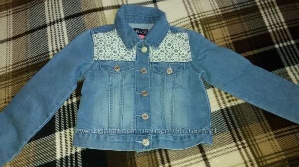 Childrens Place джинсовая курточка для девочки, на 5-6лет, новая