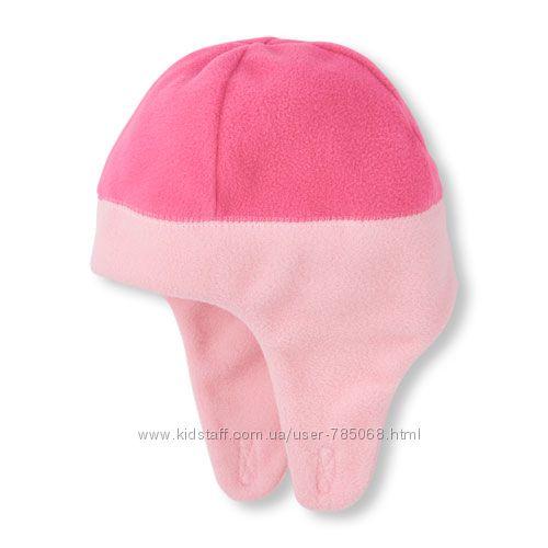 Childrens place флисовые шапочки, 4-5лет, новые
