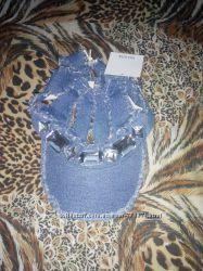 Летняя джинсовая кепка с камнями
