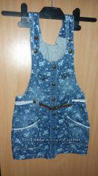 Очень красивый джинсовый сарафан Турция Overdo Размер 98-104, возраст 3-4