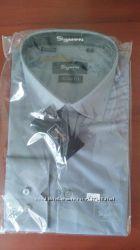 Рубашка длинный рукав L, приталенная