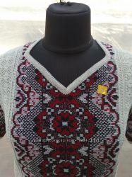 Вязані вишиванки з льону
