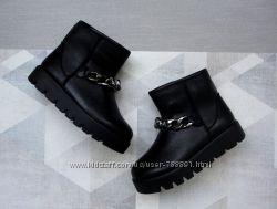 Ботинки в стиле угг на толстой подошве
