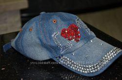бейсболка джинсовая Love  женская новая