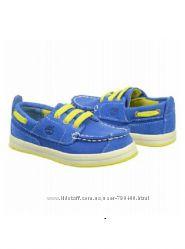 Timberland оригинал Синие топсайдеры туфли мокасины бренд из США 13 и 14см