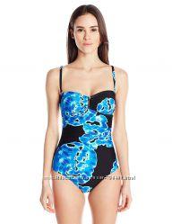 Calvin Klein оригинал Купальник синий с голубым слитный бандо р 8 и 10