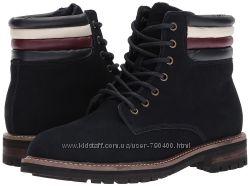 Tommy hilfiger оригинал замшевые высокие мужские ботинки на шнуровке комбат