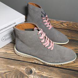 Steve madden оригинал серые замшевые мужские ботинки бренд из сша