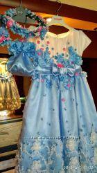 Очень красивое платье на рост 116-122 на 7 лет