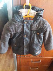 Стильная курточка с латками next 9-12m.