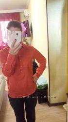 Стильная, женская рубашка, оранжевого цвета