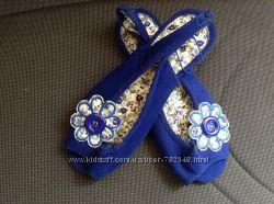 новые модные синие босоножки 34 р-ра 20. 5 см