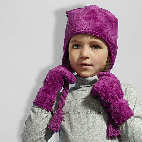 Детская шапка демисезонная на флисе Tchibo Германия ОГ 48-50-52
