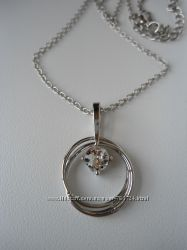 Цепочка с подвеской с кристаллом сваровски ив роше