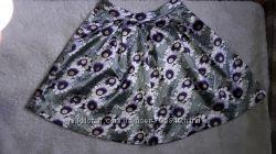 Атласная юбка солнце размер м