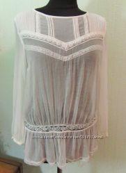 Блуза легкая пляжная шифон паутинка кружево бохо