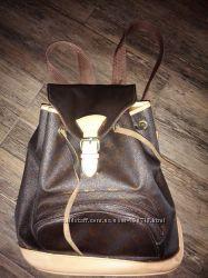 Винтажный кожаный рюкзак louis vuitton оригинал с серийным номером срочно