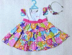 Яркое красочное цветочное пышное платье Laura Ashley нарядное