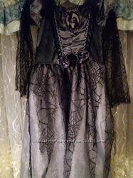 Платье на вечеринку , бу отличное 140см