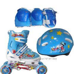 Набор роликовых коньков ROONEY COMBO - голубые
