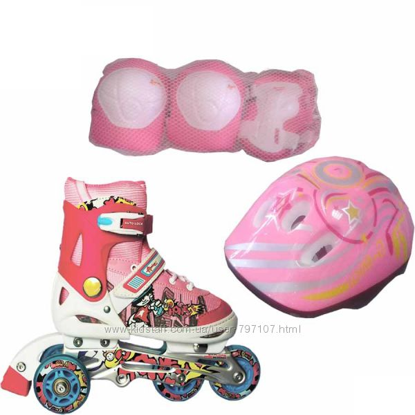 Набор роликовых коньков ROONEY COMBO - розовые