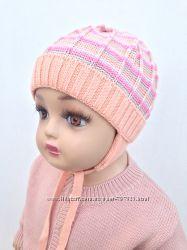 Вязаные шапочки для деток шерсть с акрилом с 36 по 44 размер