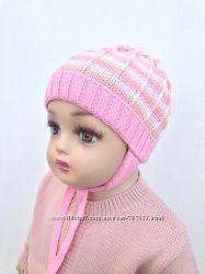 Вязаные шапочки для деток ТМ Соня шерсть и акрил р. 46 см