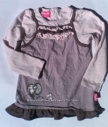 Платье с ёжиком  Pampolina р. 92 с длинным рукавом, можно в садик.
