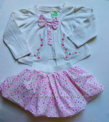 Нарядная пышная юбка и кофта болеро на 1, 5-2, 5 года комплект.