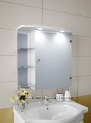 Шкаф зеркальный в ванную с LED подсветкой