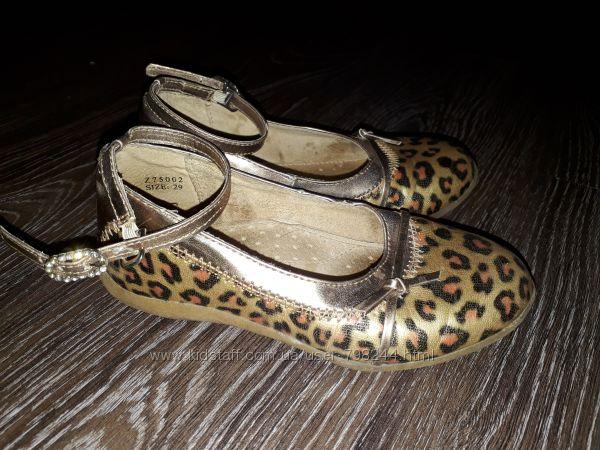 Очень красивые леопардовые туфли стелька 18, 5 см