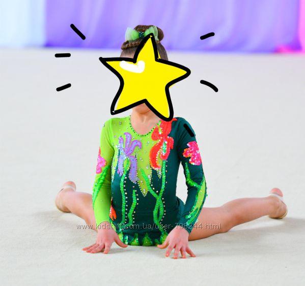 Купальник для гимнастики фигурного катания рост 104-116