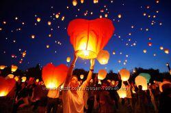 Небесные фонарики купол, сердце