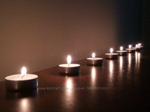 Чайные плавающие свечи производства Bispol Польша