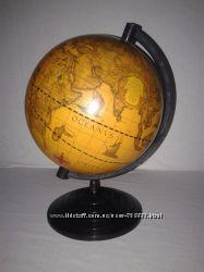 Глобус старинный, 160мм, сувенирный, на английском языке