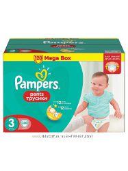 Подгузники и трусики фирмы Pampers 1-6 размеры