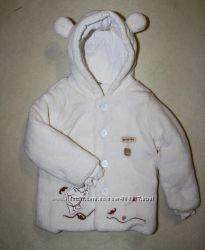 Шубка на малыша 18-24 мес. Белый мишка