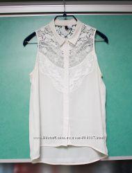 Блуза белая с кружевом H&M