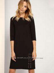 черное тканевое платье Top Secret