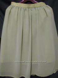 юбка двухслойная пышная зеленая