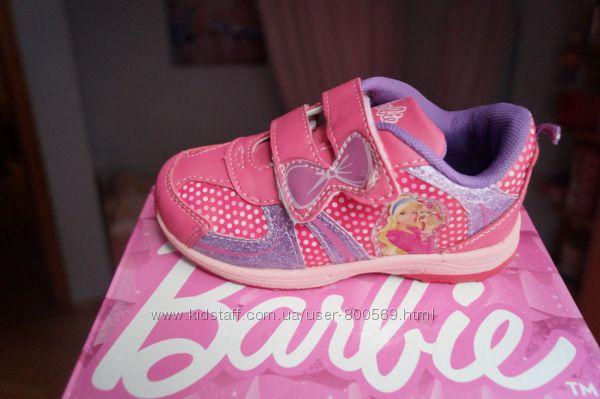 Кроссовки для девочки розовые Barbie, новые р. 26, 27, 28, 29