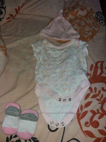 Продам детский набор бодик носочки для девочки