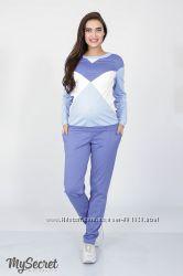 Ультрамодный костюм для беременных и кормящих, голубой