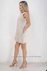 Стильное кремовое айвори мини платье от zara под кожу, м, оригинал